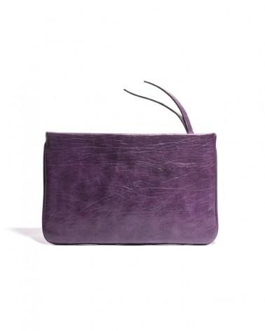 Bolso sobre en piel color viola