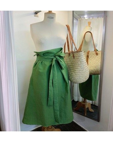 Falda Wrap lino green