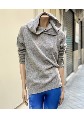 Jersey con capucha gris