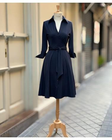 Vestido wrap Navy
