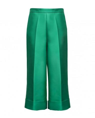 Pantalon cropped verde