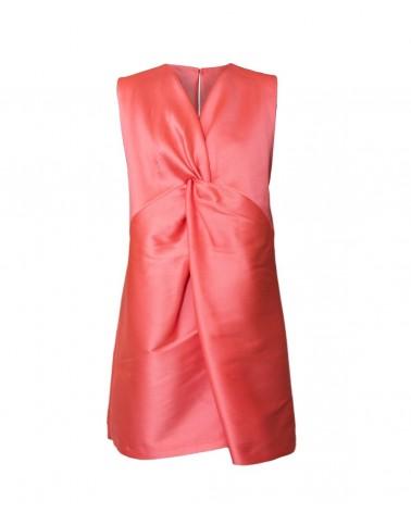 Vestido cruzado seda