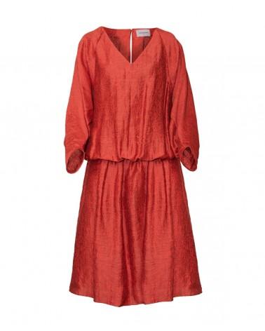 Vestido oversize seda