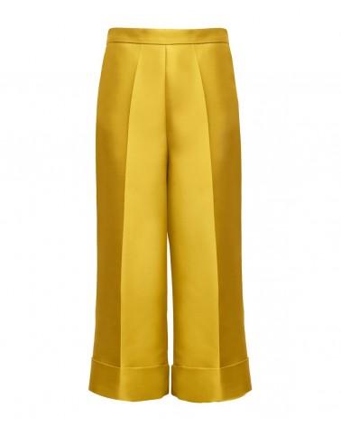 Pantalón cropped amarillo