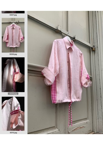 overshirt linen rose
