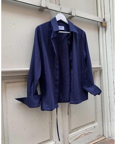 overshirt linen denim