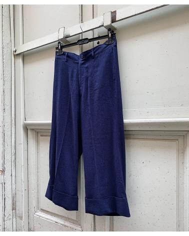denim-look linen trousers