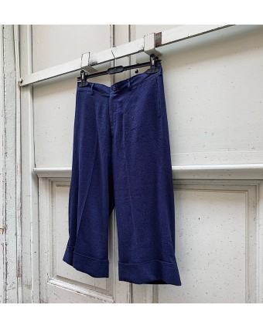 Pantalón lino aspecto denim