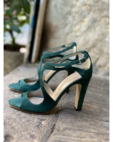 """garbayino""suede sandals"